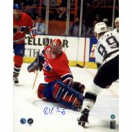 """Montreal Canadiens Patrick Roy Finals Save vs Gretzky Signed 16"""" x 20"""" Photo"""