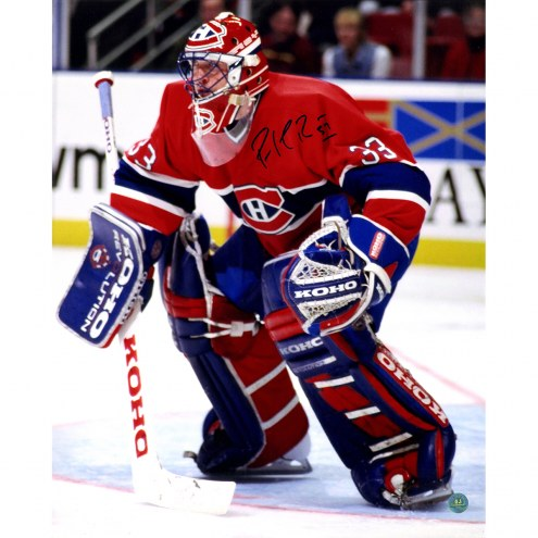 """Montreal Canadiens Patrick Roy Habs Goalie Signed 16"""" x 20"""" Photo"""