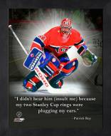 Montreal Canadiens Patrick Roy Framed Pro Quote