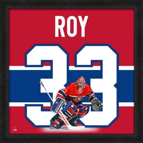 Montreal Canadiens Patrick Roy Uniframe Framed Jersey Photo