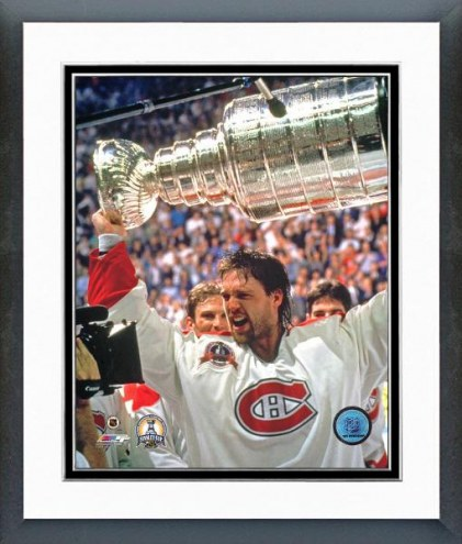 Montreal Canadiens Patrick Roy with the 1993 Stanley Cup Framed Photo