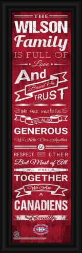 Montreal Canadiens Personalized Family Cheer Framed Art