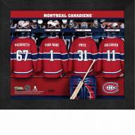 Montreal Canadiens Personalized 11 x 14 Framed Photograph