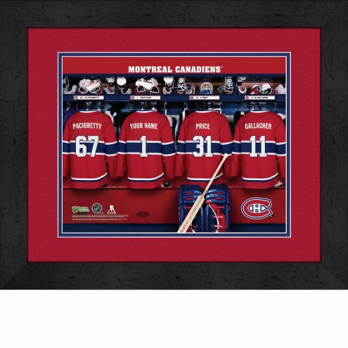 Montreal Canadiens Personalized Locker Room 13 x 16 Framed Photograph