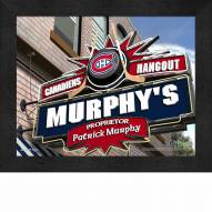 Montreal Canadiens 11 x 14 Personalized Framed Sports Pub Print