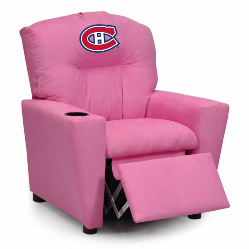 Montreal Canadiens Pink Kid's Recliner