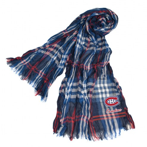 Montreal Canadiens Plaid Crinkle Scarf
