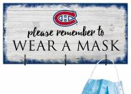 Montreal Canadiens Please Wear Your Mask Sign