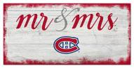 Montreal Canadiens Script Mr. & Mrs. Sign