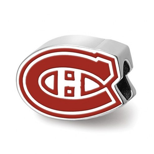 Montreal Canadiens Sterling Silver Enameled Bead