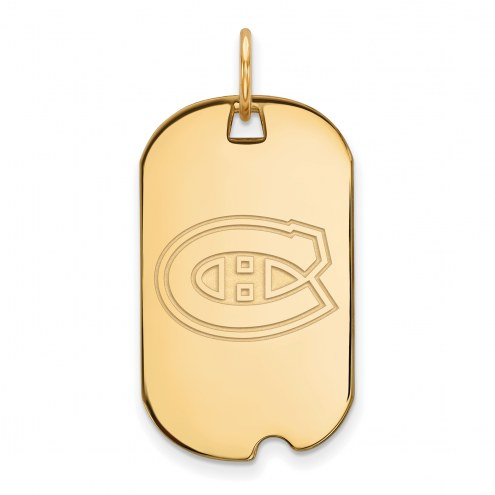 Montreal Canadiens Sterling Silver Gold Plated Small Dog Tag
