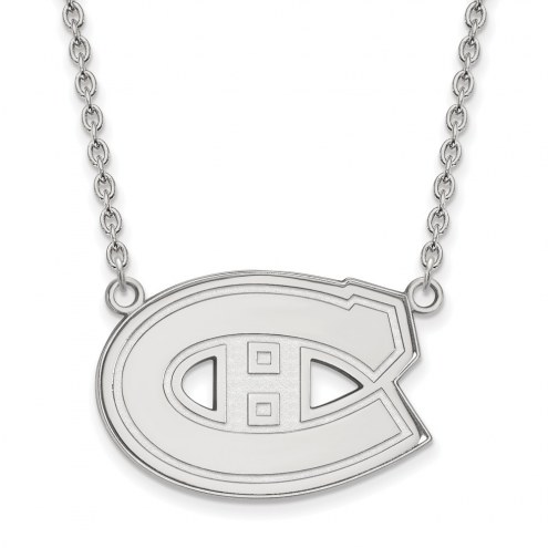Montreal Canadiens Sterling Silver Large Pendant Necklace