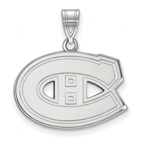 Montreal Canadiens Sterling Silver Medium Pendant