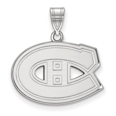 Montreal Canadiens Sterling Silver Medium Pendant