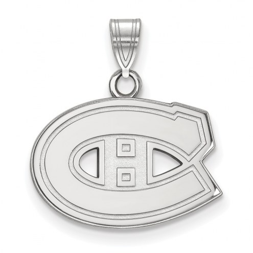 Montreal Canadiens Sterling Silver Small Pendant