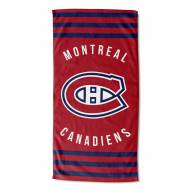 Montreal Canadiens Stripes Beach Towel