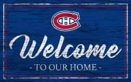 Montreal Canadiens Team Color Welcome Sign