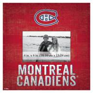 """Montreal Canadiens Team Name 10"""" x 10"""" Picture Frame"""