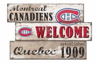 Montreal Canadiens Welcome 3 Plank Sign