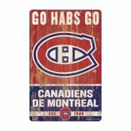 Montreal Canadiens Slogan Wood Sign