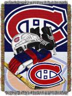 Montreal Canadiens Woven Tapestry Throw Blanket