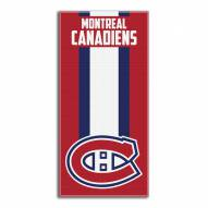 Montreal Canadiens Zone Read Beach Towel