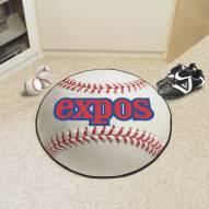 Montreal Expos Baseball Rug