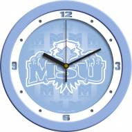 Morehead State Eagles Baby Blue Wall Clock
