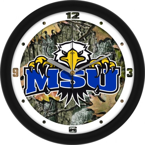 Morehead State Eagles Camo Wall Clock