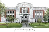 Morehead State Eagles Campus Images Lithograph