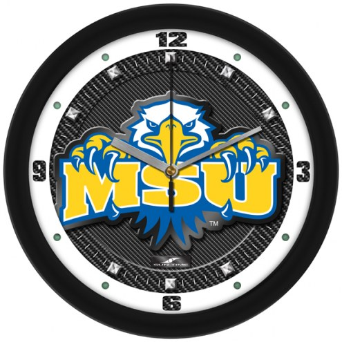 Morehead State Eagles Carbon Fiber Wall Clock