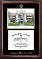 Morehead State Eagles Gold Embossed Diploma Frame with Campus Images Lithograph