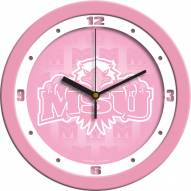 Morehead State Eagles Pink Wall Clock