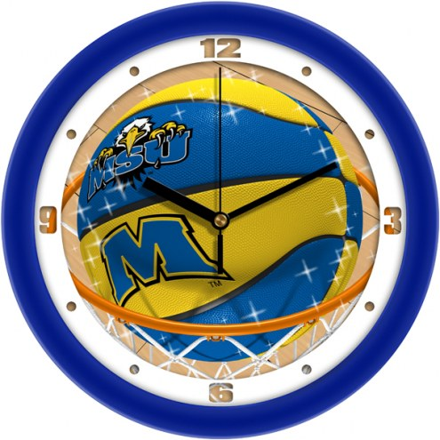 Morehead State Eagles Slam Dunk Wall Clock