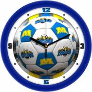 Morehead State Eagles Soccer Wall Clock
