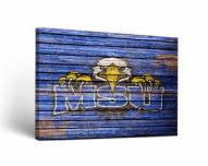 Morehead State Eagles Weathered Canvas Wall Art