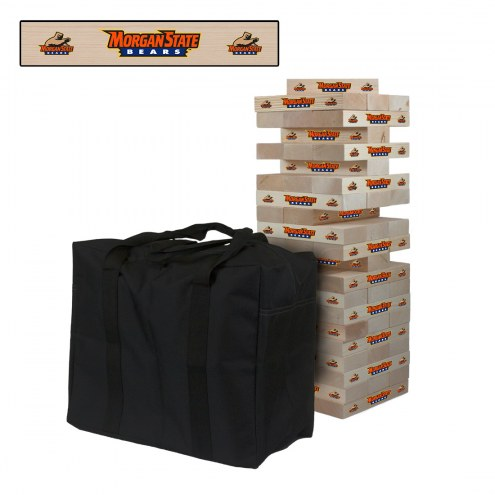 Morgan State Bears Giant Wooden Tumble Tower Game