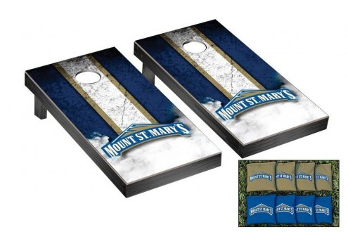 Mount St. Mary's Mountaineers Mini Cornhole Set