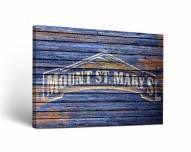 Mount St. Mary's Mountaineers Weathered Canvas Wall Art
