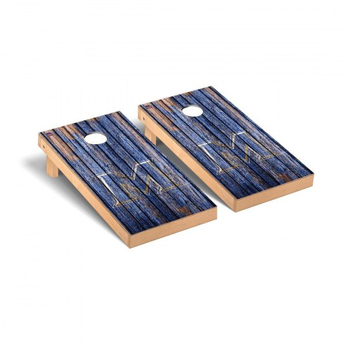 Mount St. Mary's Mountaineers Weathered Cornhole Game Set