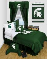 Michigan State Spartans Jersey Comforter & Sheet Complete Bedding Set