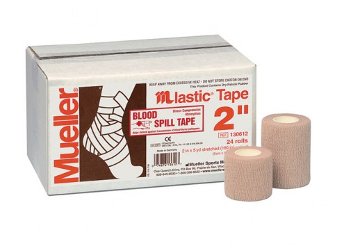 """Case of Mueller 3"""" M Lastic Blood Spill Athletic Tape - 16 Rolls"""