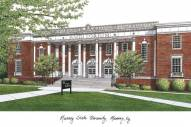Murray State Racers Campus Images Lithograph