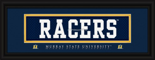 "Murray State Racers ""Racers"" Stitched Jersey Framed Print"