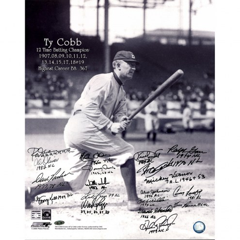 "Batting Champions ""Cobb Batting"" (19 Signatures) Signed 16"" x 20"" Photo"