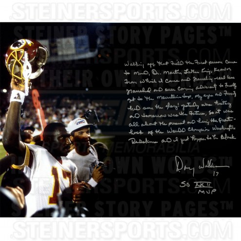 "Doug Williams Super Bowl Story Signed 16"" x 20"" Photo"