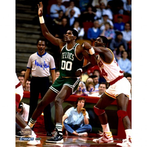 "Hakeem Olajuwan/Robert Parish Signed 16"" x 20"" Photo"