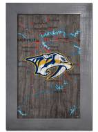 "Nashville Predators 11"" x 19"" City Map Framed Sign"