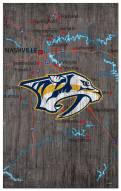 "Nashville Predators 11"" x 19"" City Map Sign"