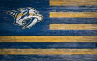 "Nashville Predators 11"" x 19"" Distressed Flag Sign"